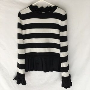 English Factory Black & White Striped Sweater